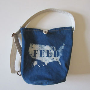 Feed USA x Gap Bag Tote Weekend Travel Denim